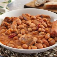 Zuppa di fagioli piccanti e salsicce