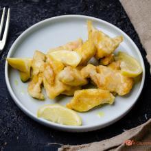 Bocconcini di pollo al limone e curry