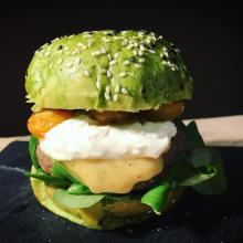burger bun agli spinaci