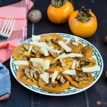 cachi grigliati con pecorino e noci