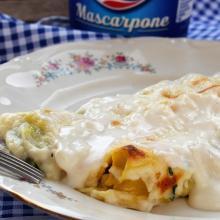 Cannelloni con spinaci e mascarpone