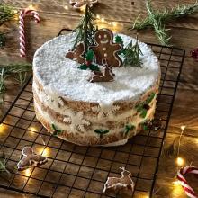 chiffon cake natalizia