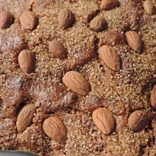 colomba integrale al cacao e caffè con zucchero di canna (senza lievitazione e burro)