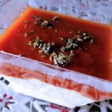 Coppette di yogurt greco e pomodoro (bimby)