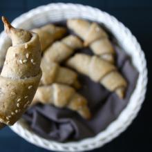 Croissant di patate viola