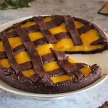 Crostata al cioccolato e arancia ( ricetta senza latte)