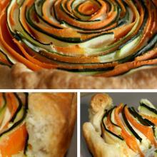 Crostata di sfoglia con zucchine e carote