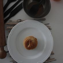 Cruffin glassati all'arancia