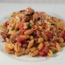 gnocchetti sardi (malloreddus) salsiccia e pecorino