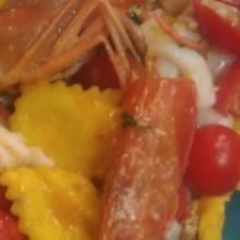 I ravioli ricotta e spinaci al sugo di pesce