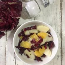 insalata invernale con radicchio e pere