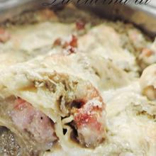 lasagne in bianco con carciofi e salsiccia