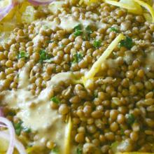 Lenticchia toscanella del colle in insalata profumata