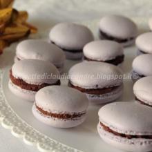 Macarons con ganache al cioccolato