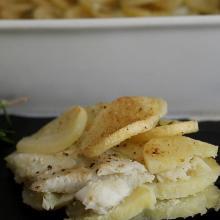 millefoglie di platessa e patate