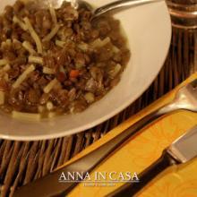 Minestra con avanzo di lenticchie