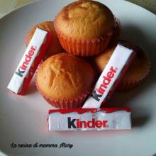 Muffin con kinder cioccolato