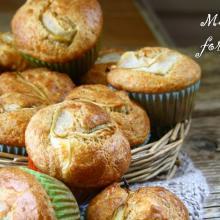 Muffin formaggio e pere senza glutine