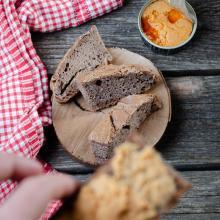 Pane con farina di teff con lievito madre