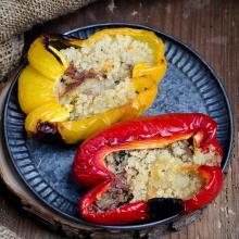 Peperoni ripieni con alici e scamorza nel fornetto versilia