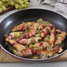 Pollo all'uva, una ricetta semplice, economica ma di grande effetto