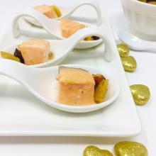 Salmone con composta di zenzero e cranberries
