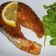 Salmone impanato con erbe aromatiche