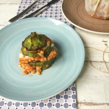 Sformatini di fregola alla parmigiana di zucchine