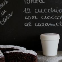 Torta 12 cucchiai con cioccolato al caramello - repost