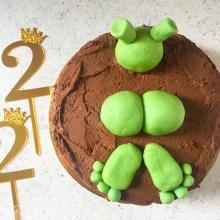 Torta di compleanno al cioccolato