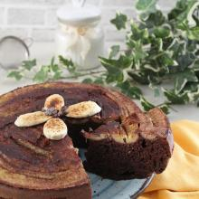 Torta rovesciata alle banane e cioccolato