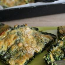Tortino basso di spinaci al forno