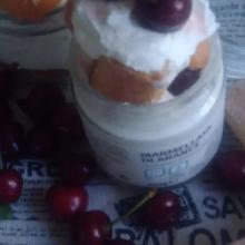 Vasetti senza cottura alle ciliegie