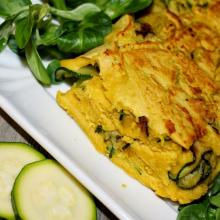 Vegan frittata con zucchine (senza uova)