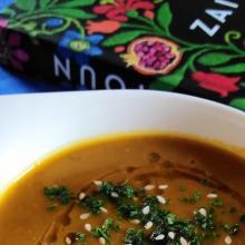 Zuppa di lenticchie rosse e zucca