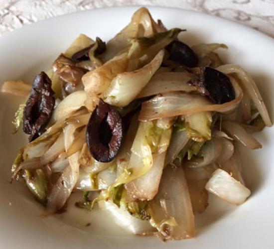 Belga in padella con olive