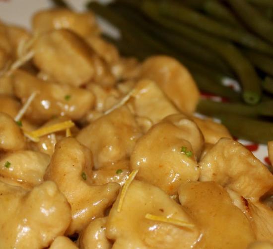 Bocconcini di pollo al succo di limone caramellato - repost