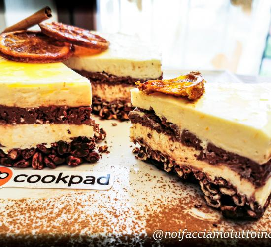 Cheesecake al cioccolato fondente e arancia