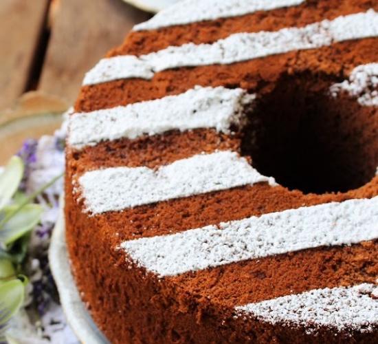 Chiffon cake al cacao
