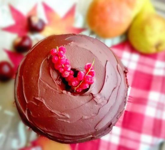chiffon cake alle pere e cioccolato