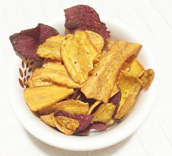 Chips di carota e barbabietola