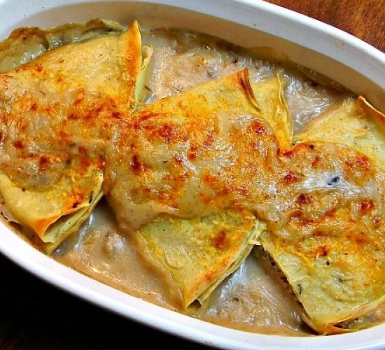 Crepes alle verdure gratinate in forno