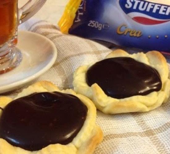 crostatine con marmellata di arance e ganache al cioccolato fondente