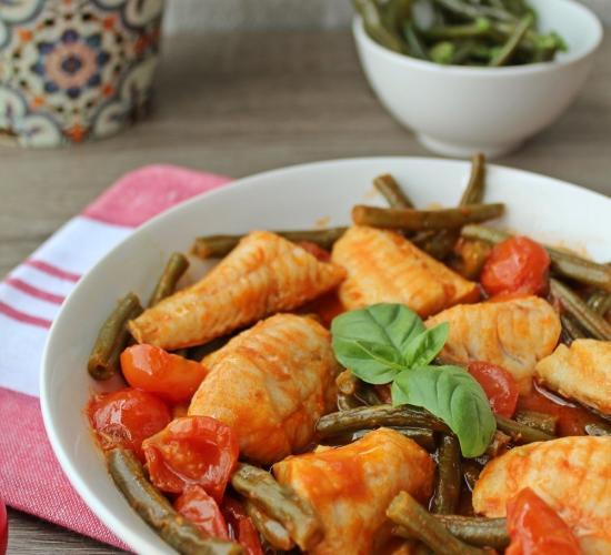 gallinella in guazzetto di fagiolini ( ricetta light)