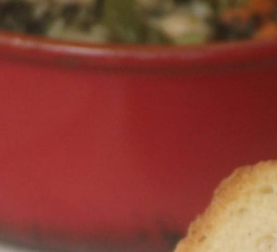 La zuppa di verdure invernali con  fagioli cannellini