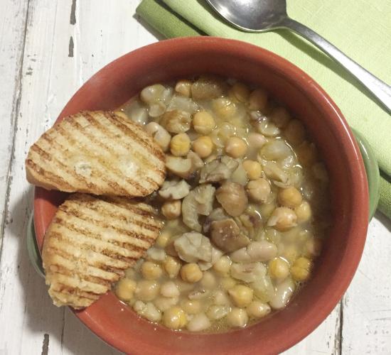minestra di ceci e castagne