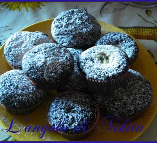 Muffin alle banane e cacao