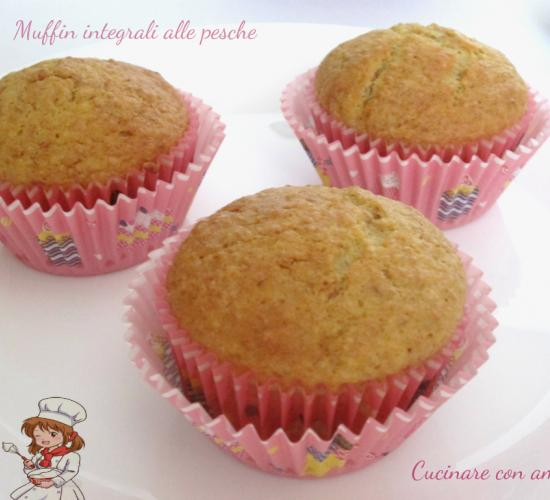 Muffin integrali alle pesche