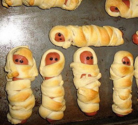 mummie di halloween in pasta sfoglia