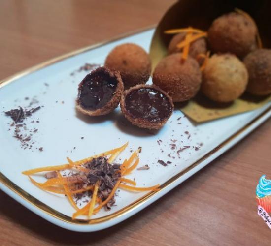 palline di cioccolato fritte